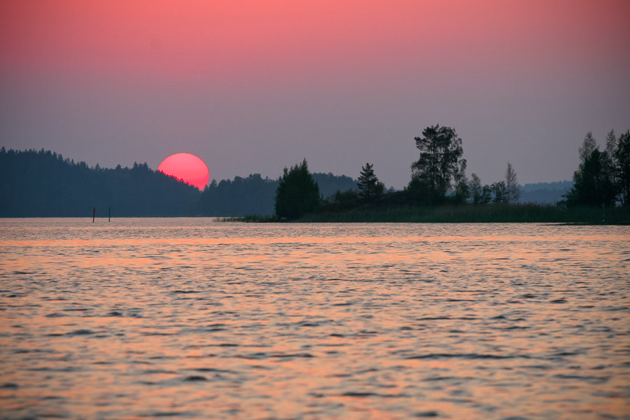 Sunset on Pien-Saimaa