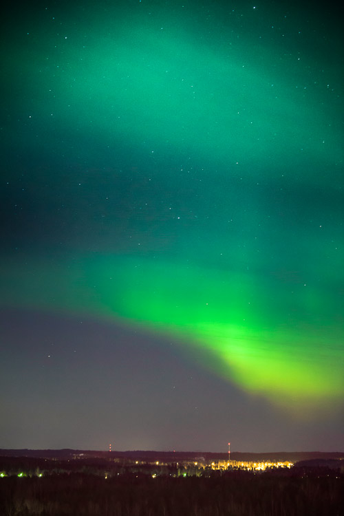 Auroras in Finland Vuosaari, Helsinki
