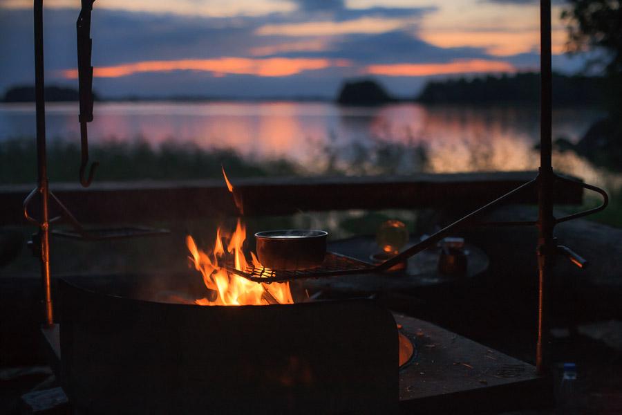 Night in Kirvessaari Linnansaari Linnansaaren kansallispuisto National Park