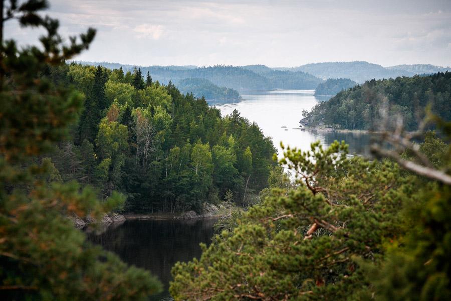 View from Linnavuori in Linnansaari linnansaaren kansallispuisto melonta telttailu