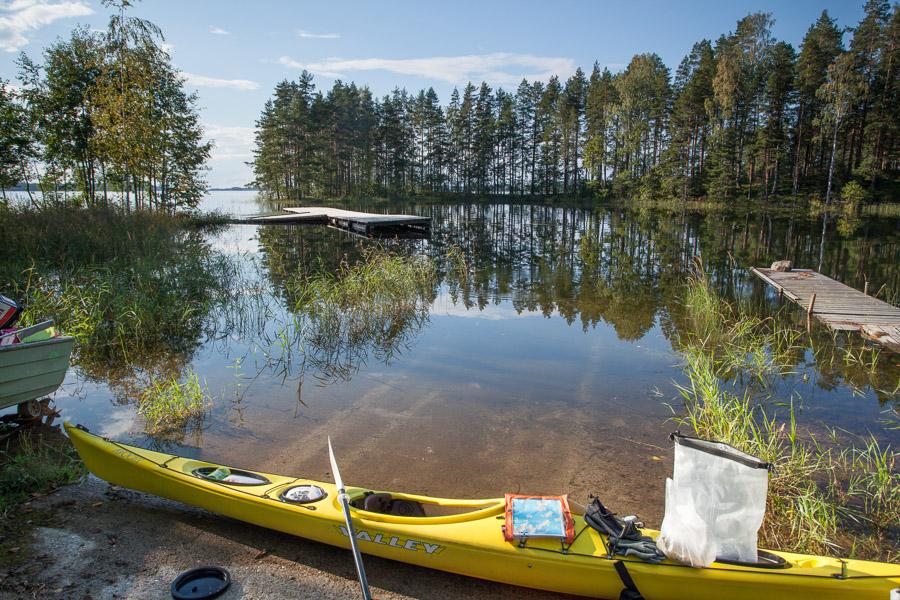 Hevonlahti in Putkiniemi, Savonlinna Puruvesi melonta kajakki kayak kayaking Finland