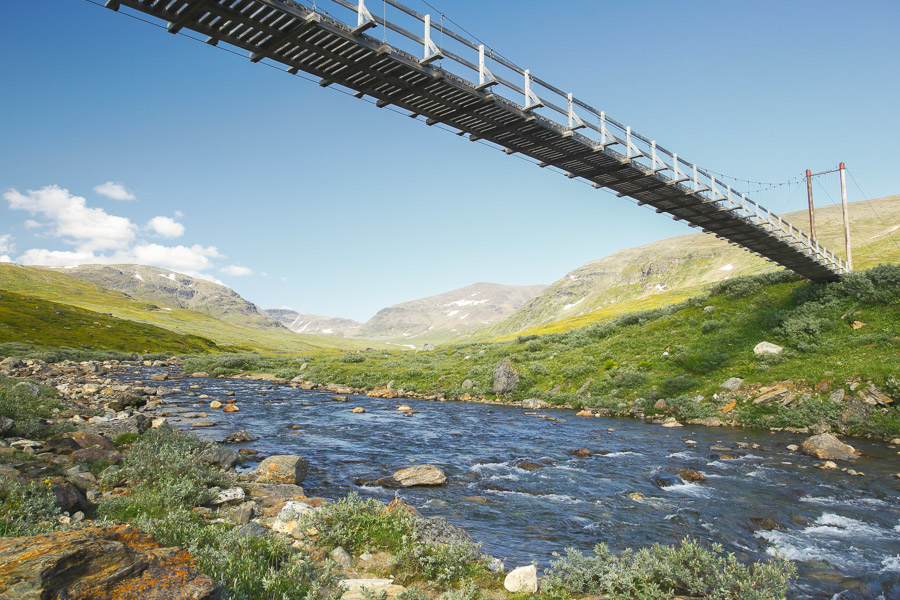 Bridge over Västra Syterbäcken in Syterskalet