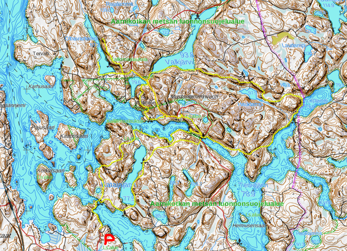 Repovesi Repoveden kansallispuisto national park kartta vaellus hiking