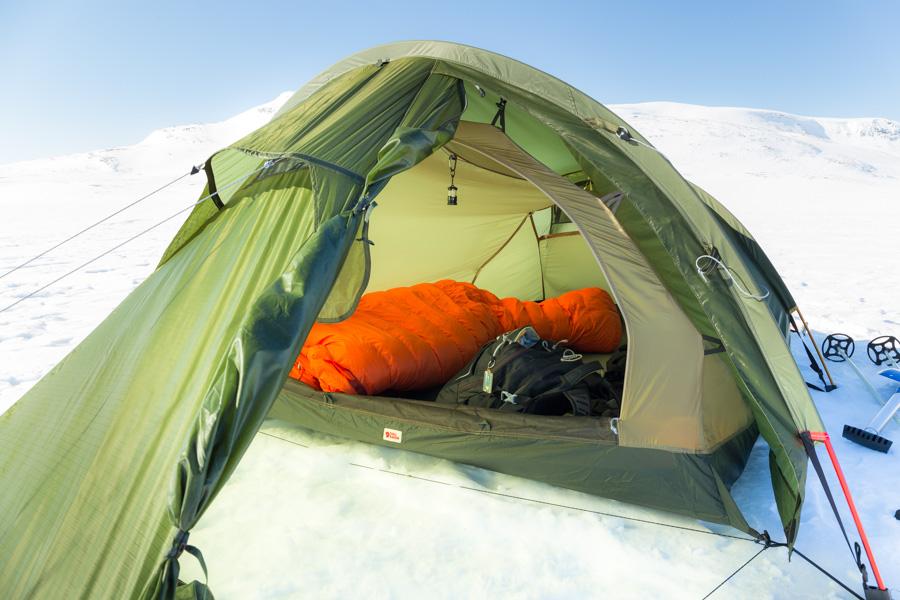 Fjällräven Abisko Lite 3 tent teltta talvi tunturi Kilpisjärvi - Halti hiihtovaellus talvivaellus ski hike reitti moottorikelkkareitti