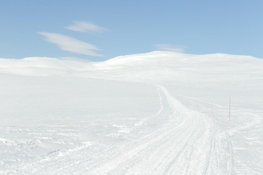 Route to Halti fell talvireitti haltille