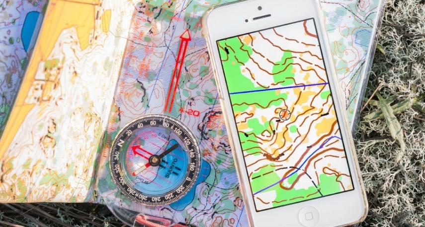 mobiili kännykkä suunnistuskartta maastokartta iPhone Pullautinkartat
