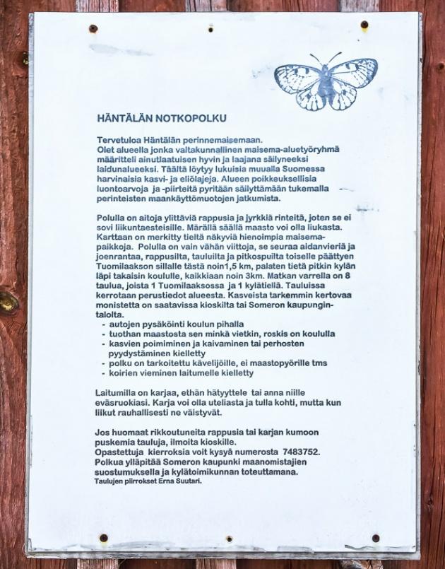 Häntälän notkot luontopolku Somero luonnonsuojelualue Rekijoki