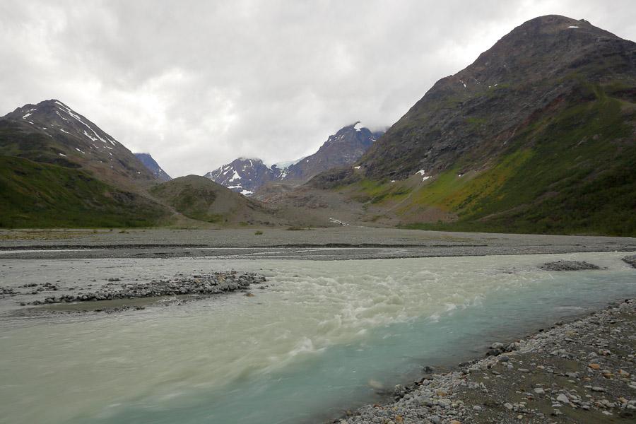 Glacier river Lyngsdalen Lyngen Vestbreen hike Norway