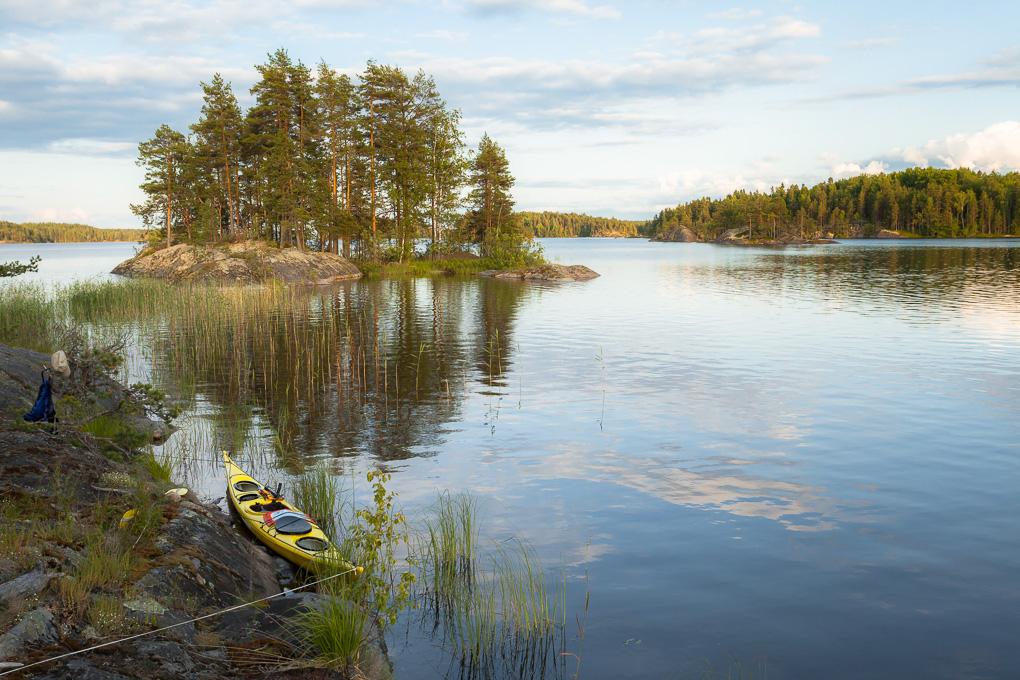 Melonta Saimaalla Pihlajavesi kayaking lake saimaa