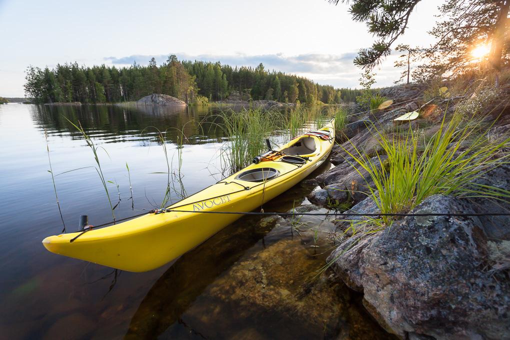 Valley Avocet sea kayak Melonta Saimaalla Pihlajavesi kayaking lake saimaa