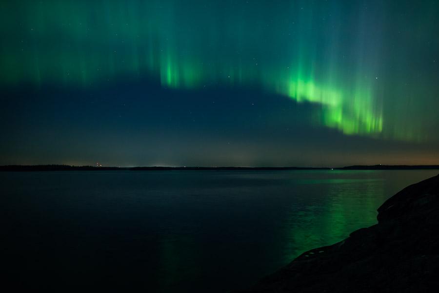 Northern Lights auroras Kirkkonummi Porkkalanniemi Finland 17.3.2015 revontulet