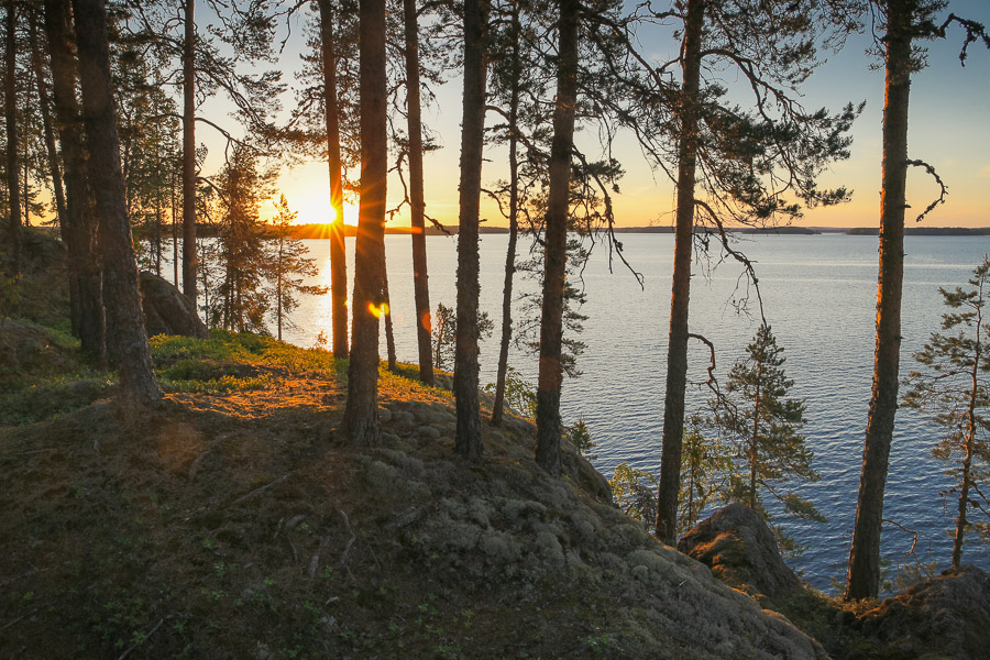 Myhkyrä Linnansaaren kansallispuisto Linnansaari melonta kayaking Finland Saimaa Lake Savonlinna