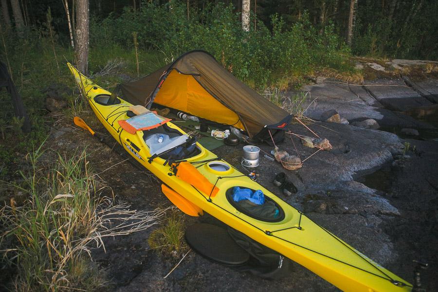 Linnansaaren kansallispuisto Linnansaari melonta kayaking Finland Saimaa Lake Savonlinna