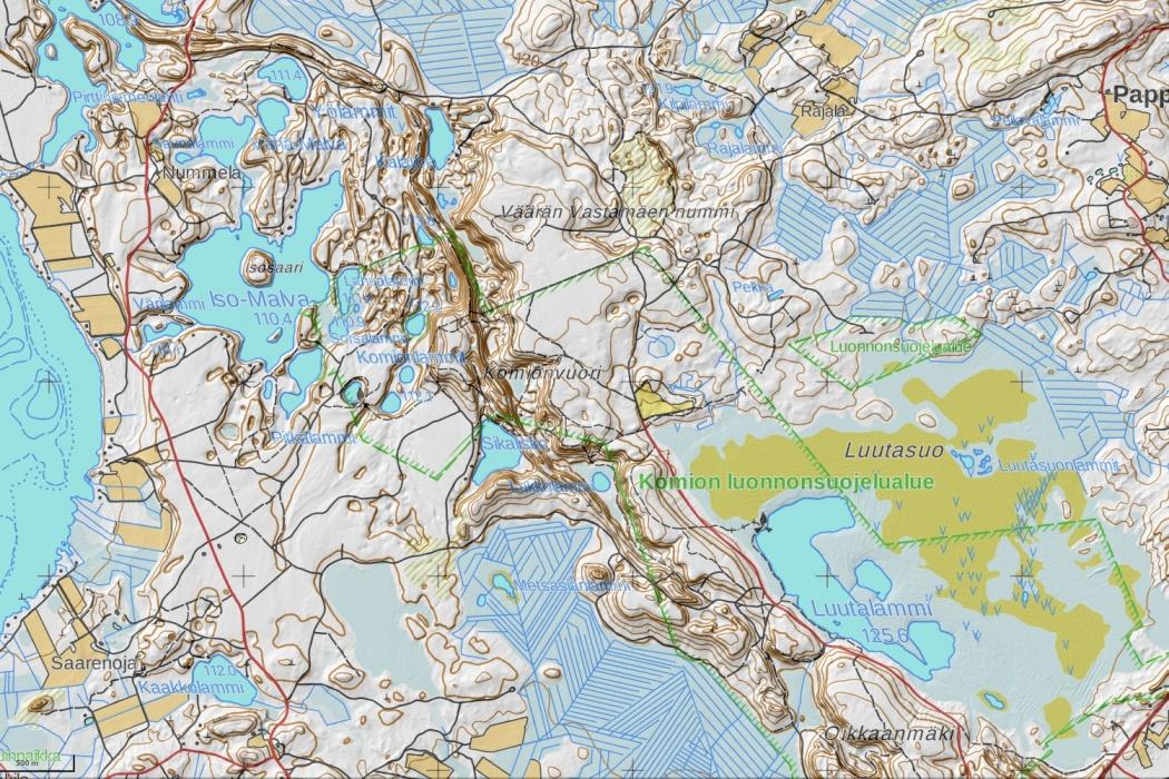 Poronpolku kartta maastopyöräily Loppi