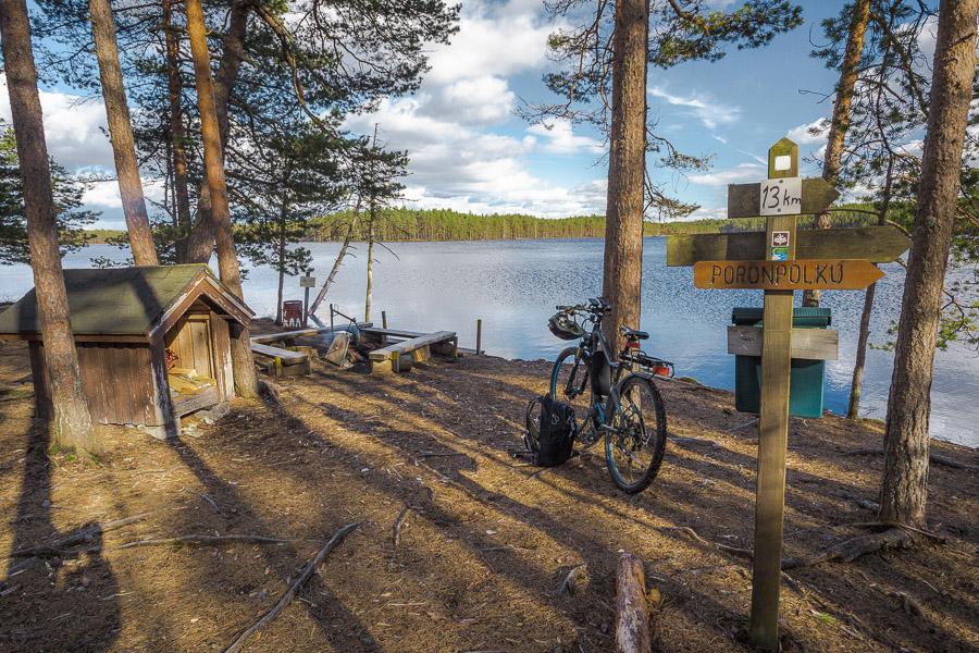 Luutalammi Poronpolku maastopyöräily Loppi Komion luonnonsuojelualue MTB Finland