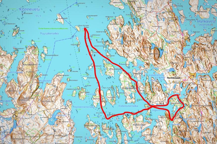 konnevesi melonta reitti kartta konneveden kansallispuisto finland kayaking lake