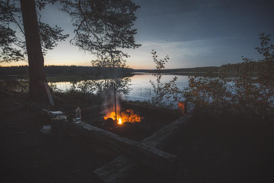 Summer night at Jatkonjärvi