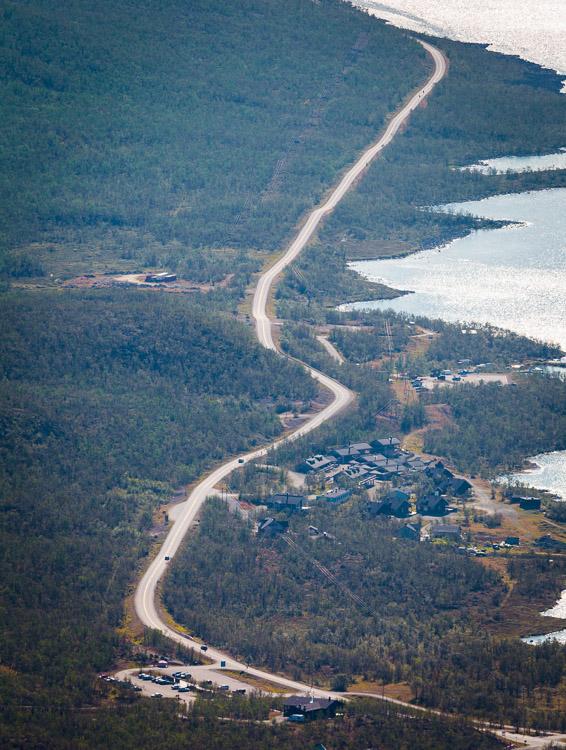 View towards Kilpisjärvi village from Saana, Kilpisjärvi