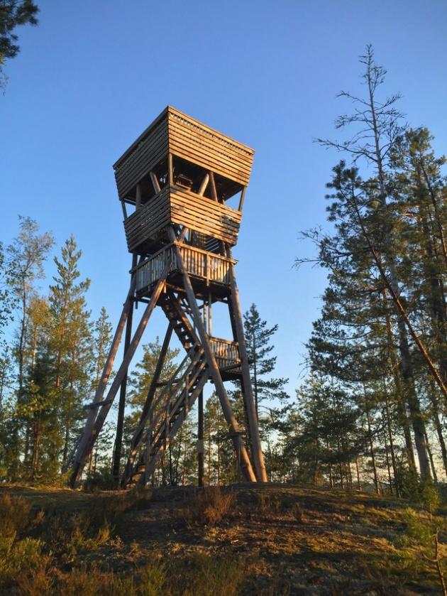 The observation tower of Mustalamminvuori