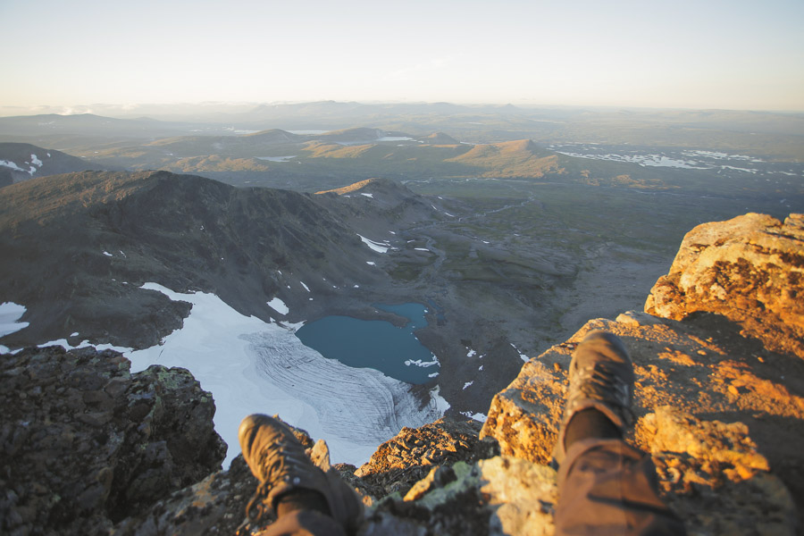 View towars northeast from Norra Sytertoppen, 1768 m