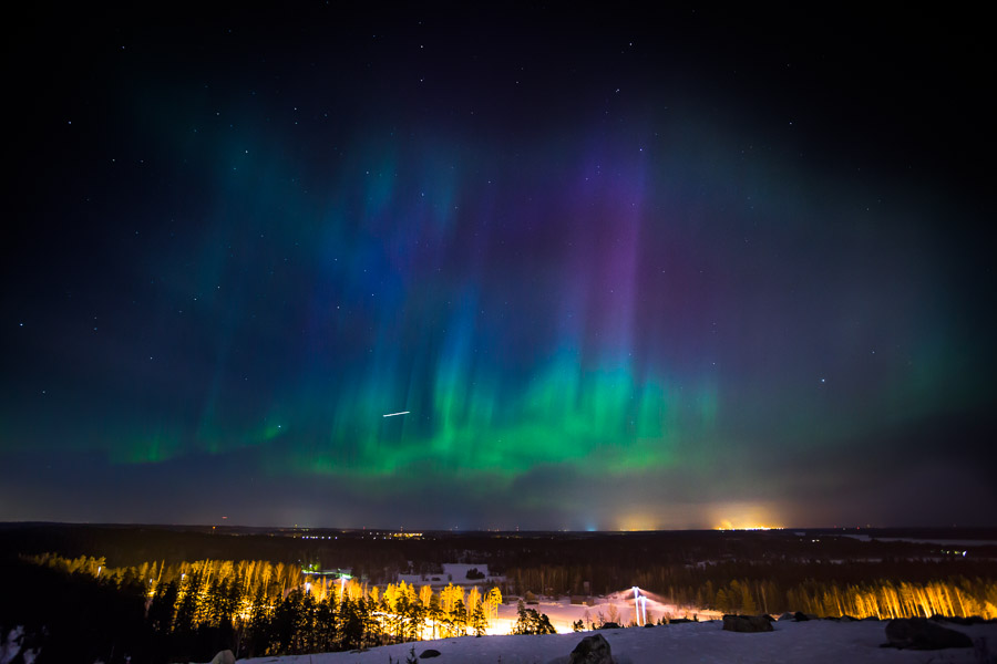 Auroras in Vuosaari, Helsinki