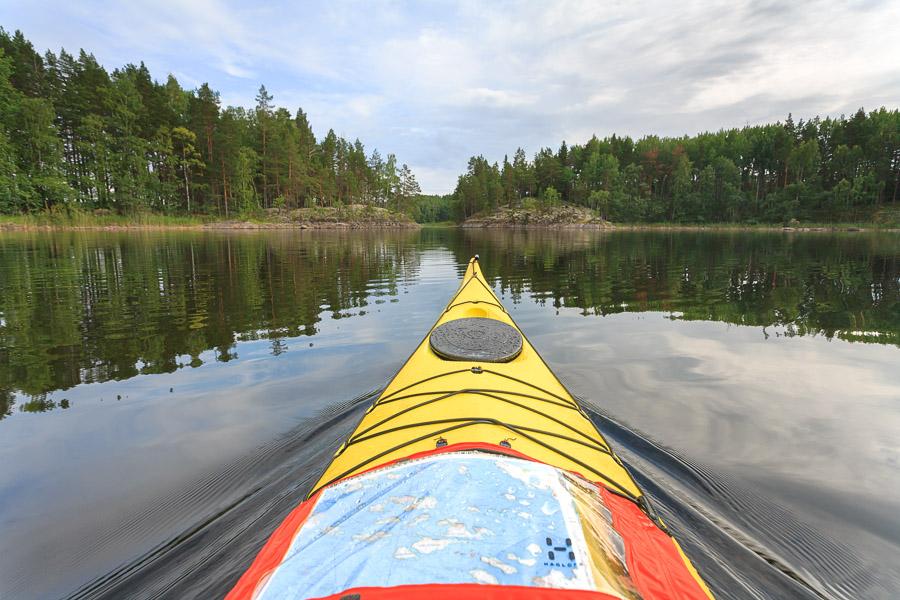 finland saimaa lake kayaking kayak Valley Avocet kayaking linnansaaren kansallispuisto melonta telttailu
