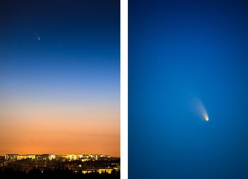 panSTARRS comet in Helsinki Finland 2013