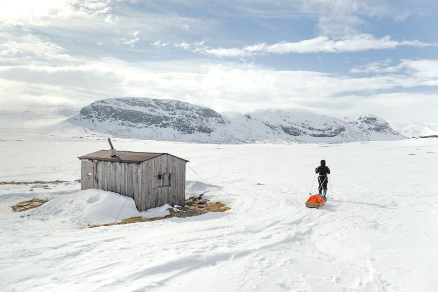 Urtashotelli autiotupa tupa talvi tunturi Kilpisjärvi - Halti hiihtovaellus talvivaellus