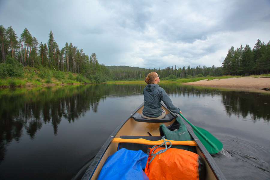 Canoe Oulanka National Park Oulangan kansallispuisto melonta