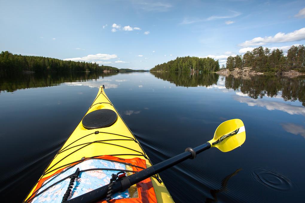 Melonta Saimaalla Pihlajavesi kayaking Saimaa lake saimaa