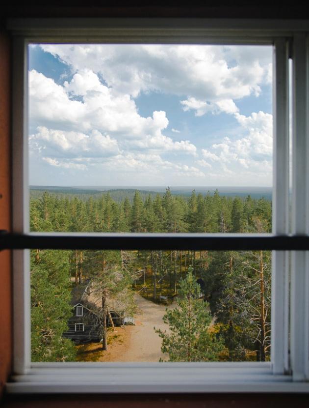 Pookivaara Rokuan kansallispuisto Palovartijan torni Rokua National Park Finland