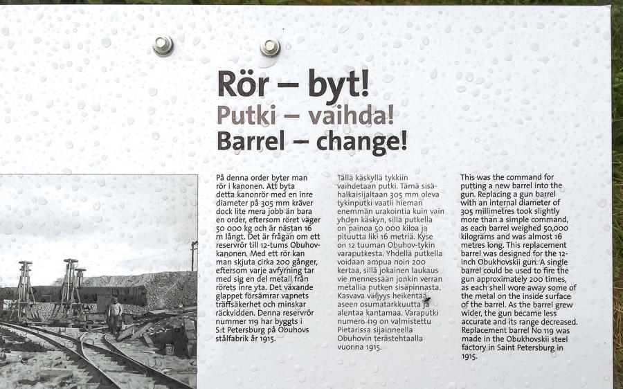 Obuhov tykki tykin putki Örön linnakesaari Kemiönsaari