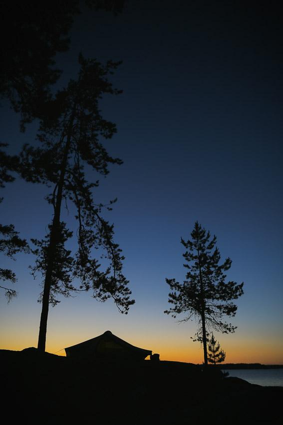 Teltta Linnansaaren kansallispuisto Linnansaari melonta kayaking Finland Saimaa Lake Rantasalmi