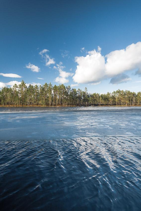 Luutalammi Komion luonnonsuojelualue Poronpolku maastopyöräily Loppi Komion luonnonsuojelualue MTB Finland