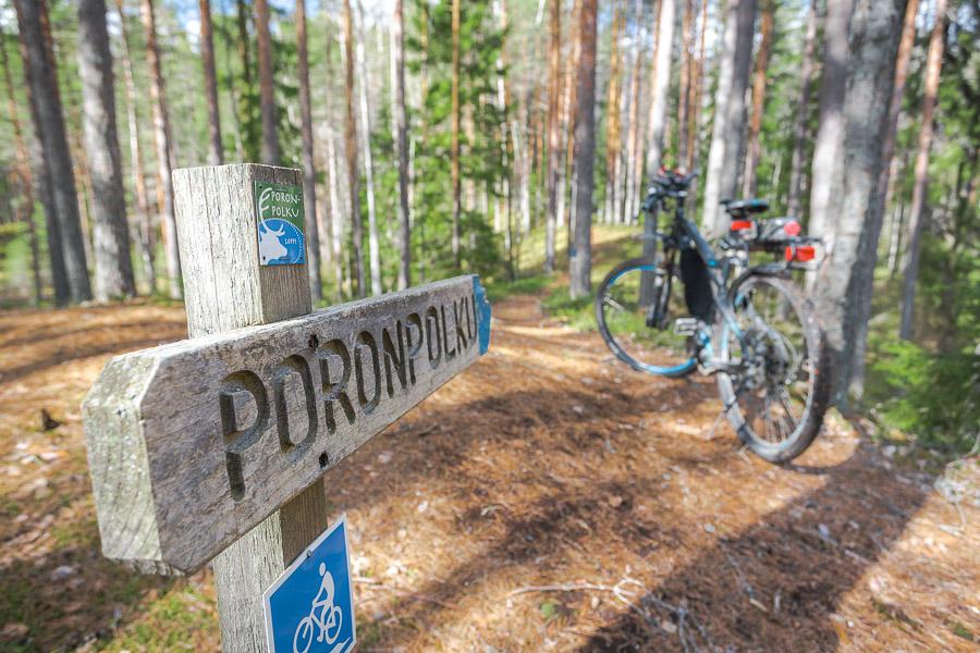 Poronpolku pyöräily maastopyöräily Loppi Komion luonnonsuojelualue MTB Finland