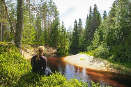 Hiekkajoki in Ilomantsi, close to Patvinsuo national park
